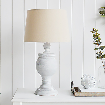 New England Style table lamps- The Rockport from The White Lighthouse Furniture and Home interiors.