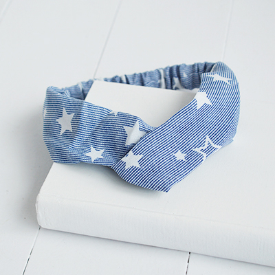 Navy and dusky pink stars and stripes head bands for the New Englanfd Lifestyle look