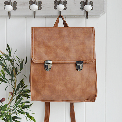 Yale Preppy faux leather rucksack for New England living