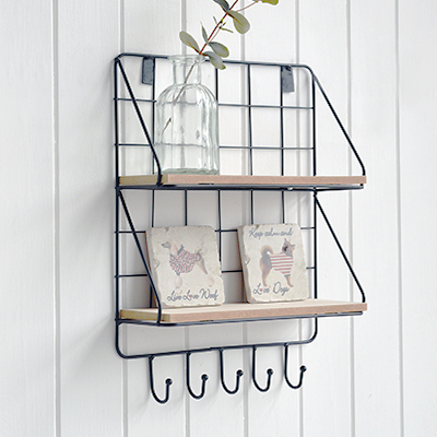 Litchfield Wall Shelves. New England coasal and country furniture for homes and interiors from The White Lighthouse Furniture