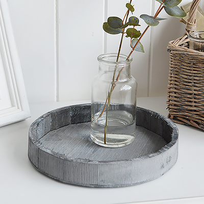 Stockton grey wooden dispaly tray