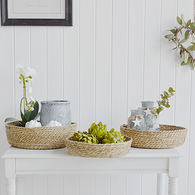 Windsor grey rustic willow tray