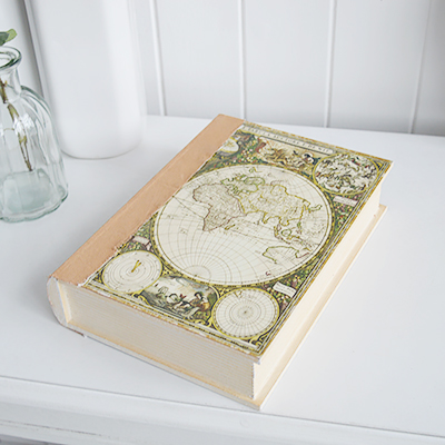 Decorative Storage book - New England Country, coastal and white furniture and home interiors delivered to UK