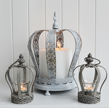 Grey Crown Tea Light Candle Holder The White Lighthouse