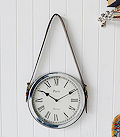 Vintage wall clock silver belt