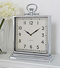 Large silver mantel clock