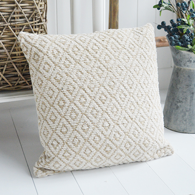 Jute Cushion - Just perfect for our New England styled interiors for coastal, city and country homes in a simple but gorgeous style