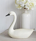 White and Grey Goose Swan for decorative in living room or hallway