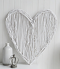 Large white willow wall wreath decorative