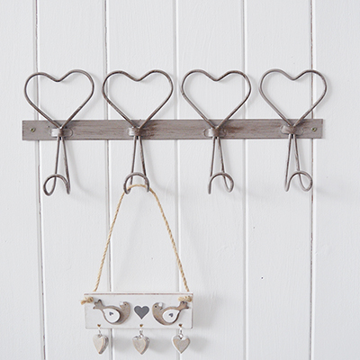 A strong and sturdy set of four hooks ideal for hanging coats, towels etc or purely for decorative purposes to add interest to an empty wall