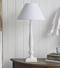 White Wooden Tall Table Lamp