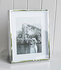 Silver Box frame with mount for 8x 6 photograph