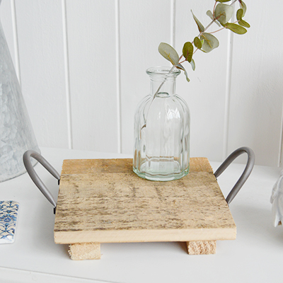New England Peabody rustic Tray for coastal and country interiors from The White Lighthouse Furniture