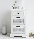Colonial White living room furniture, white lamp table with drawers, perfect storage for  living room furniture