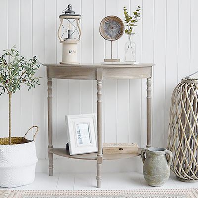 Our extra large gorgeous rustic woven lantern in white willow with chunky rope handles and glass inserts for candles.