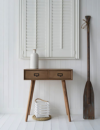 Henley conosle hallway table for New England, cottage, scandinavian and coastal interiors