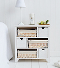 Cape Cod White wash new england bedroom chest of drawers
