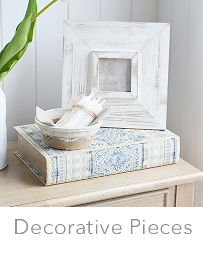 New England white home decor accessories