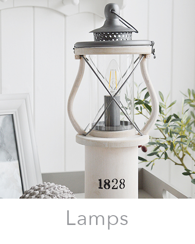 Coastal and New England style table lamps for your living room