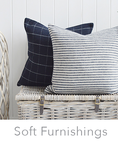 Soft furnishing for the bedroom including cushions, rugs and throws
