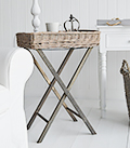 Cornwall Grey willow folding table