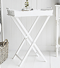 Cove Bay white tray table for living room furniture
