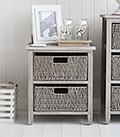 St Ives Grey low basket storage