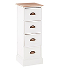 Connecticut white furniture.  30 cm Narrow Chest of drawers for living room, hallway and bedroom furniture