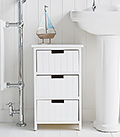 Brighton white babinet with 3 drawers