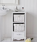 Rose 3 drawer white freestnading bathroom storage cabinet
