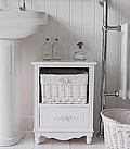 White storage furniture with baskets - Rose 1 basket
