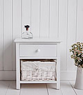New Haven 2 drawer bedside table white bedroom furniture