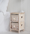 Narrow 25cm small bedside table
